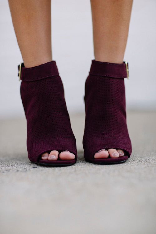 Back It Up Bootie - Wine FINAL SALE