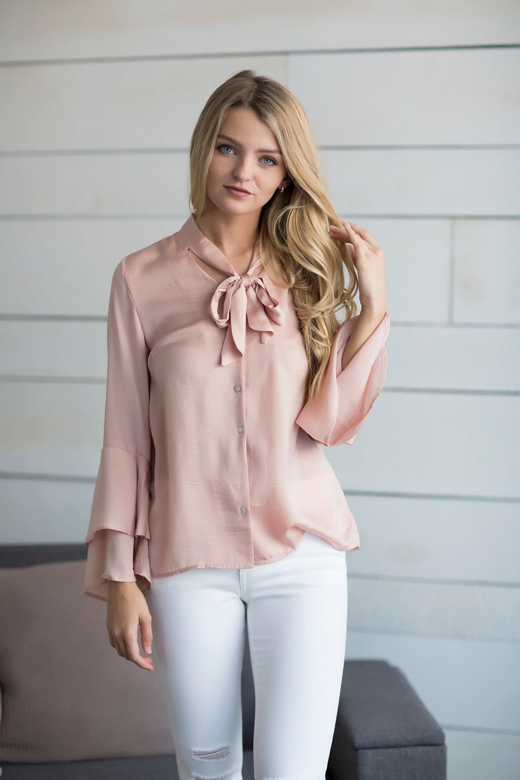 Quinn Ruffle Sleeve Top