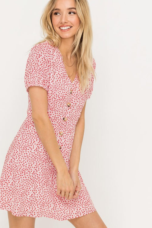 Lost In The Moment Floral Dress
