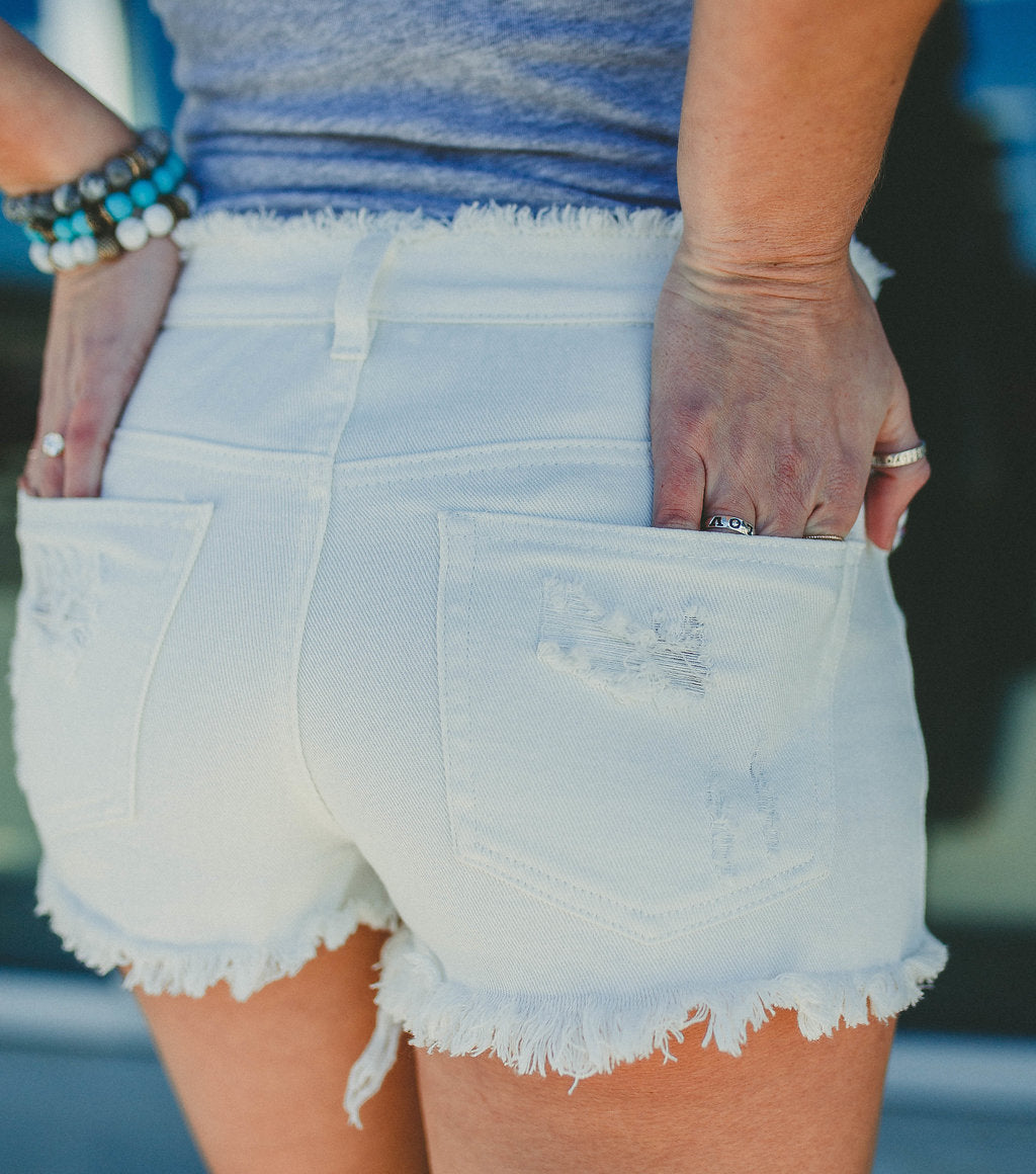 Fun In The Sun Distressed Shorts