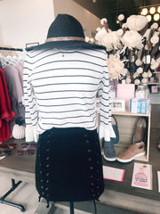 Cupcakes And Cashmere Liana Striped Sweater