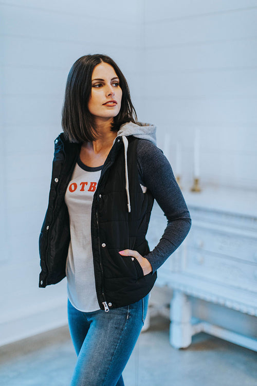 Stay Toasty Hooded Vest (Black)