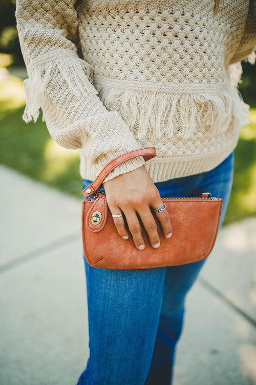 Lux Crossbody Wristlet - Coral