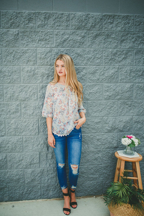 What I Love Floral Top