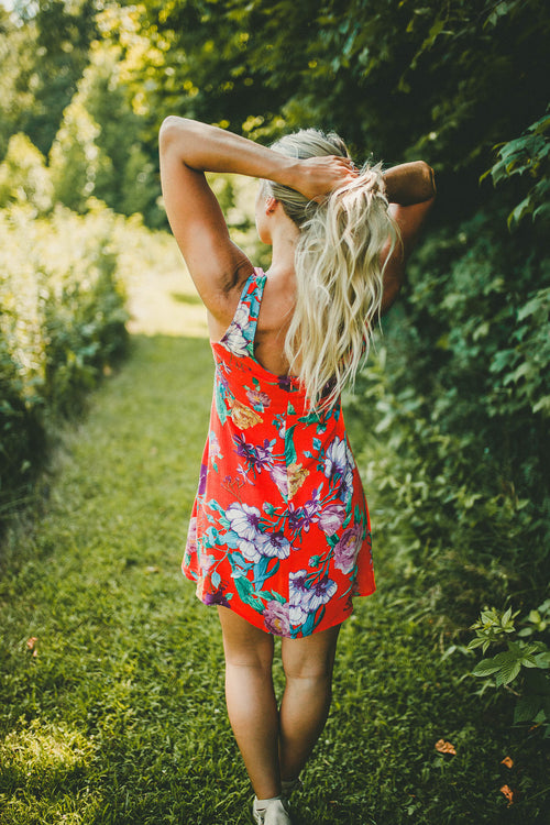 Weekend Flair Floral Dress