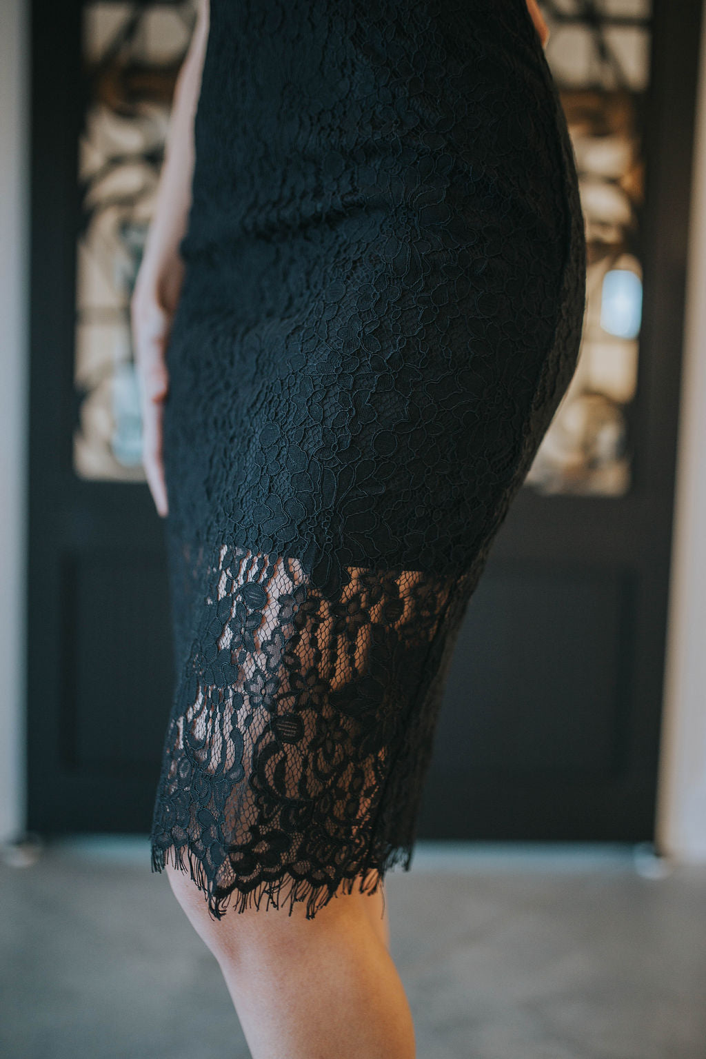 Claire Velvet And Lace Dress