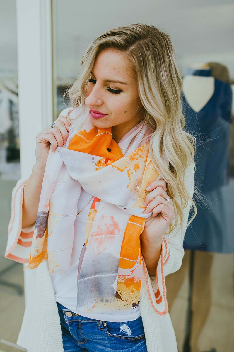 Flora Watercolor Scarf (Pink)
