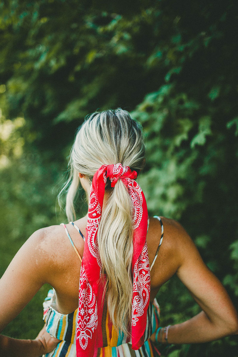 Vintage Silky Red Scarf