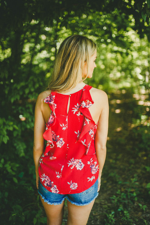 Rhodes Floral Tank Top