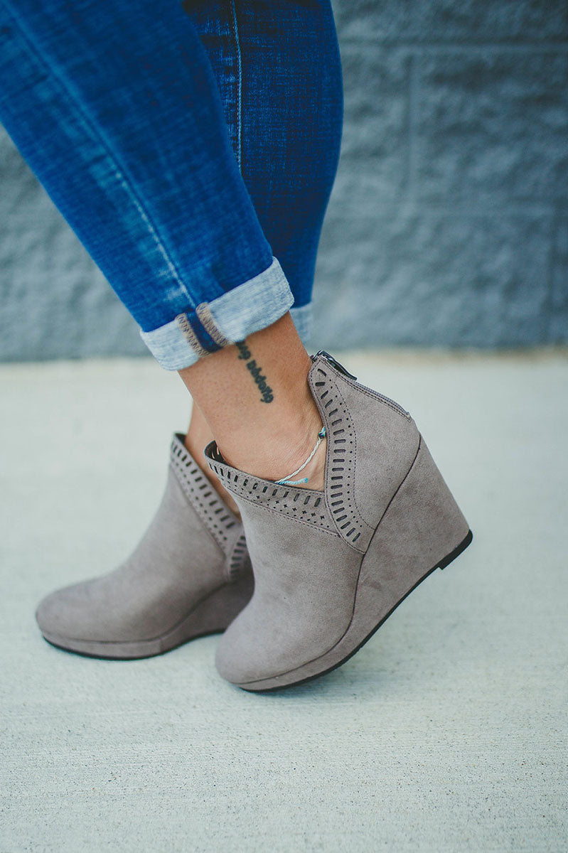 Vicci Suede Bootie By Chinese Laundry
