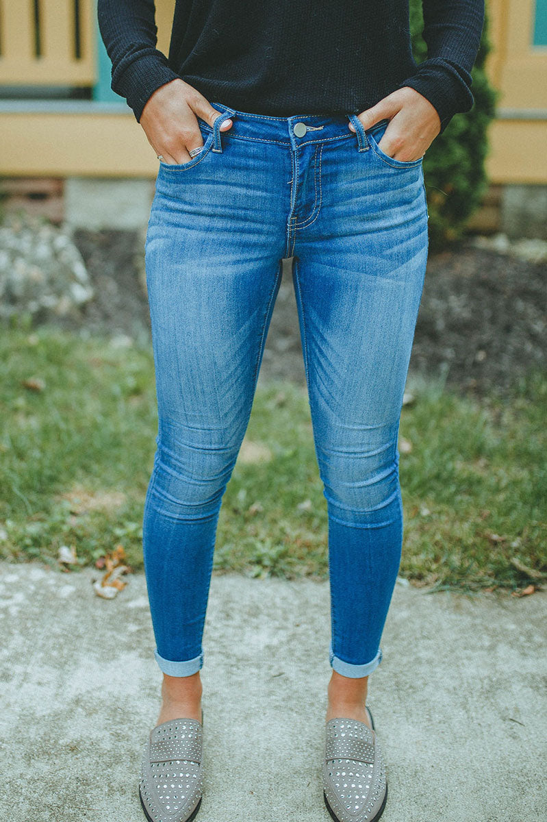 Fontaine Mid Rise Skinny Jean