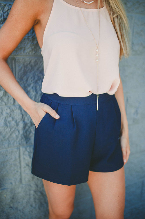 Want You Back Shorts (Navy) FINAL SALE