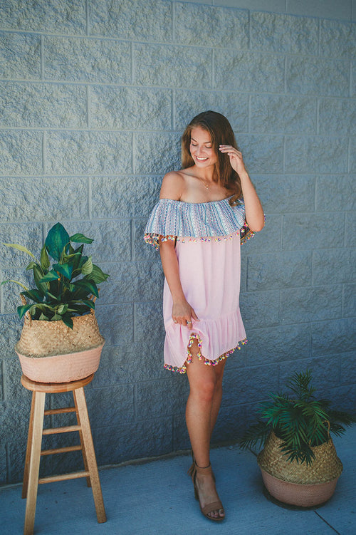 Tropical Dreams off Shoulder Dress