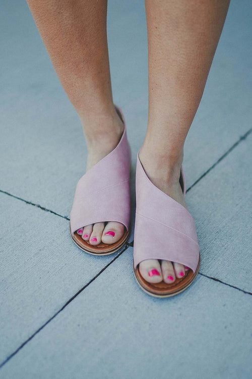 Lotus Cutout Flats (Pink) FINAL SALE