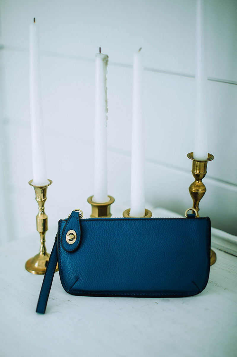 Mini Crossbody Wristlet - Cobalt