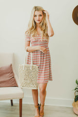 On My Way Striped Dress