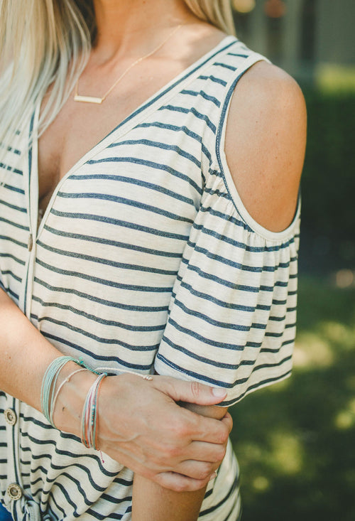 Wandering Ways Striped Top FINAL SALE
