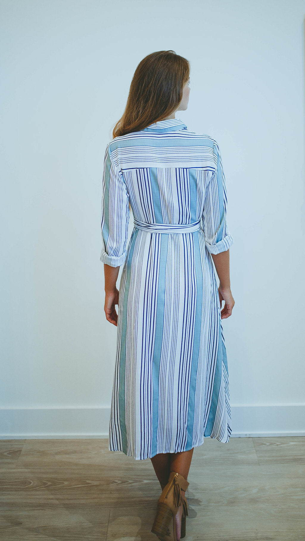 Just In Time Striped Dress