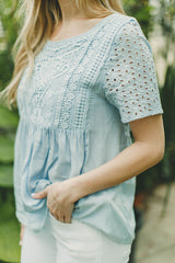 Sweet Melody Eyelet Top FINAL SALE