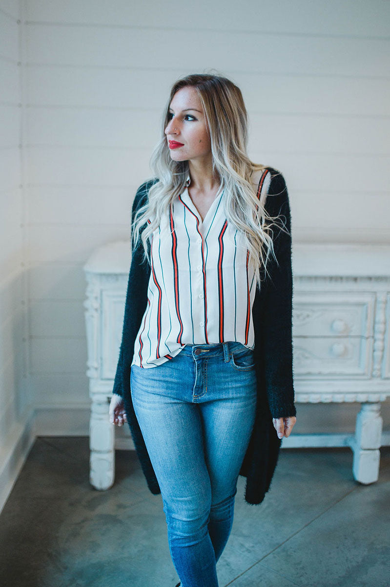 Perfect Timing Button Down Blouse