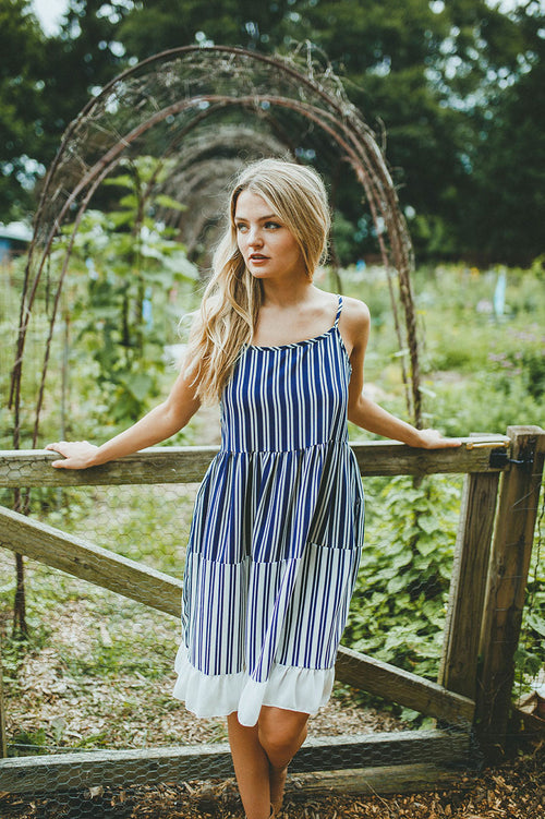 Turn Things Around Striped Dress