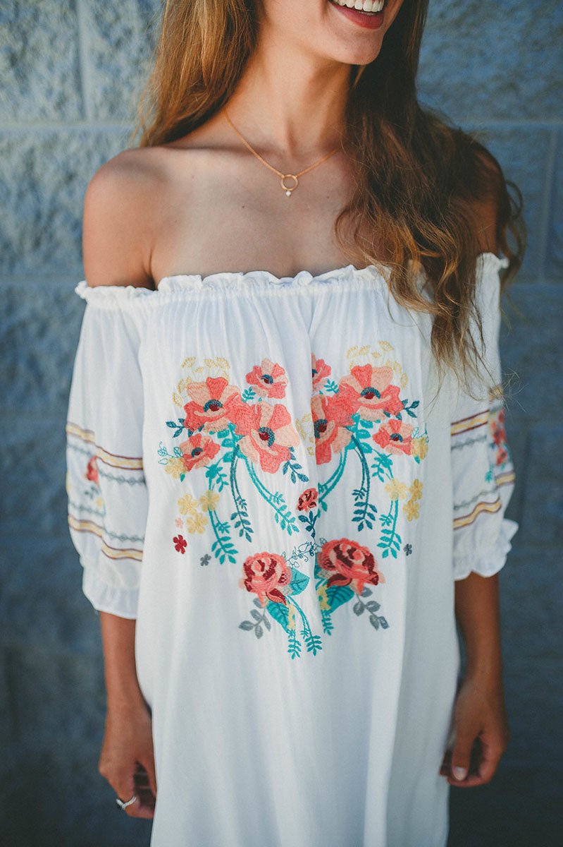 Dive In Off Shoulder Dress FINAL SALE