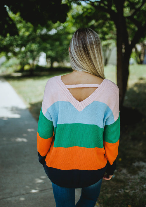 Life In Color Striped Sweater