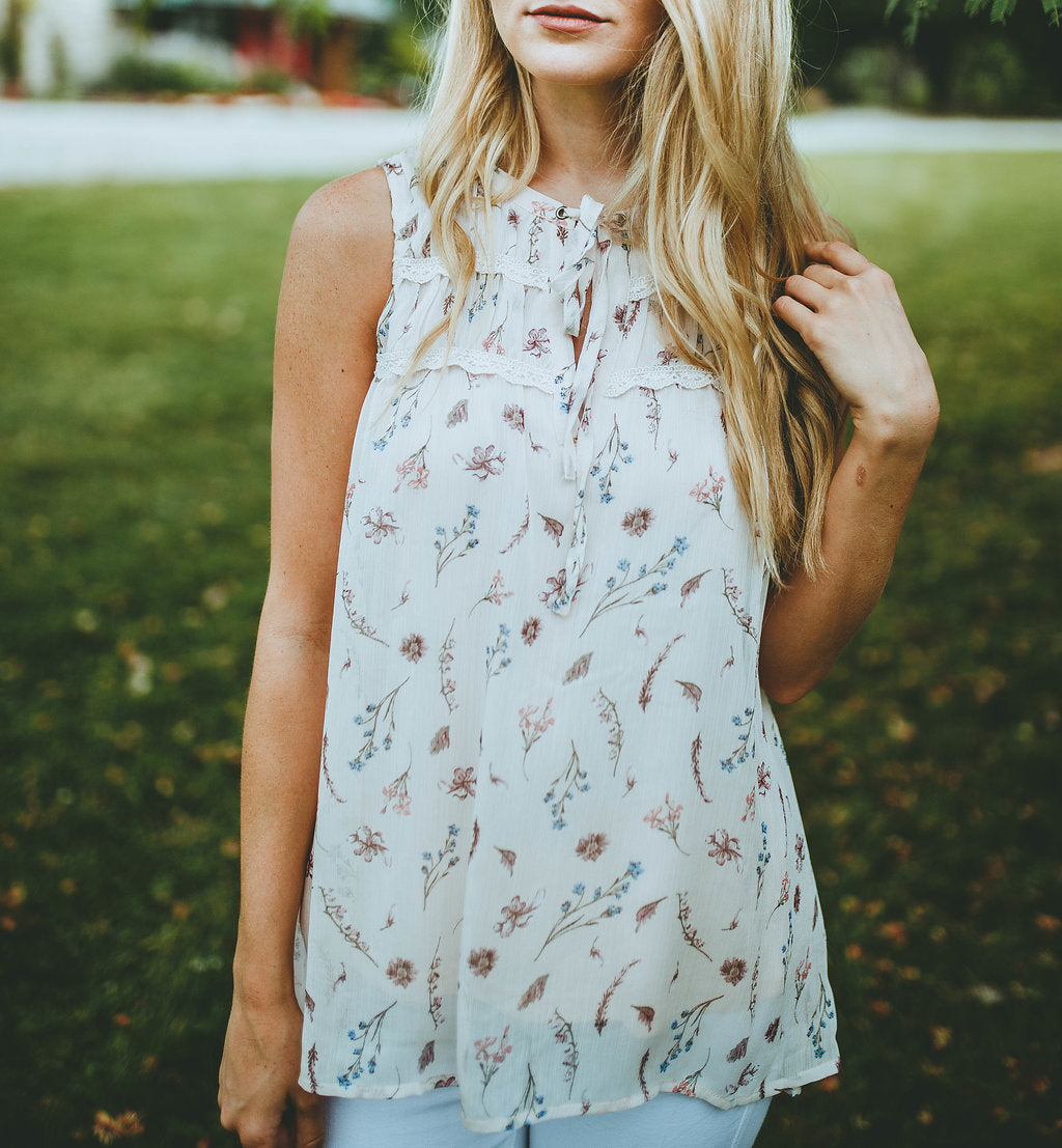 Meadowland Floral Tank FINAL SALE