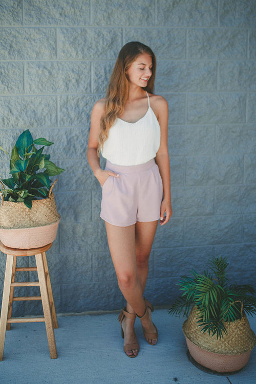 Want You Back Shorts (Mauve) FINAL SALE