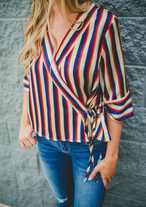 Free Ride Striped Top FINAL SALE