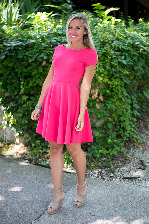 Penelope Dress (Coral)