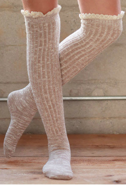 Over The Knee Boot Sock (Natural)
