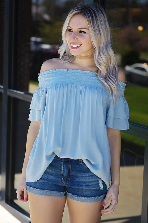 All For Love Off Shoulder Top (Final Sale)