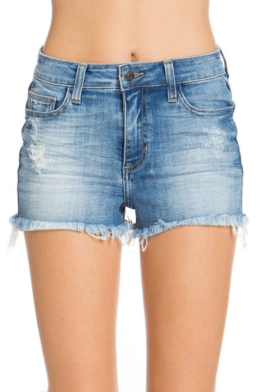 Wishful Thinking High Rise Distressed Shorts