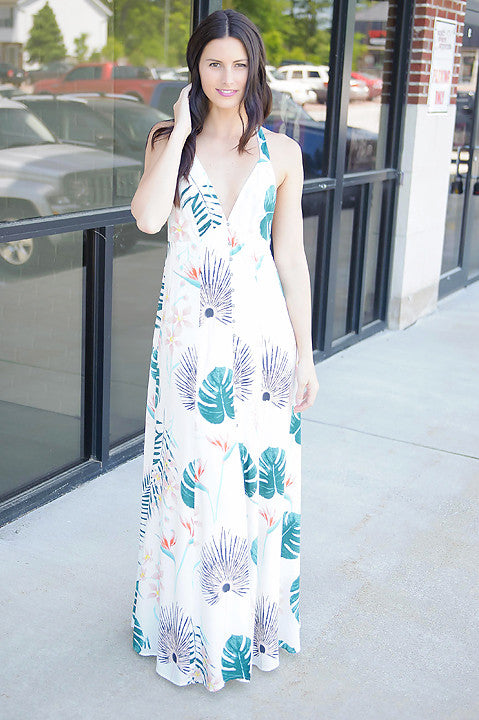 You're Free Floral Maxi Dress