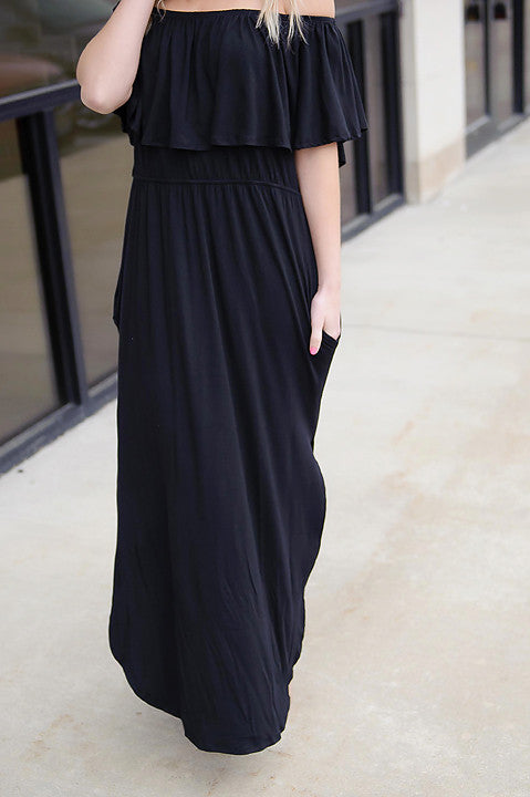 Delilah Off Shoulder Maxi Dress