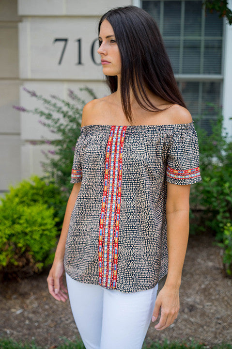 Exciting Turn Off Shoulder Top