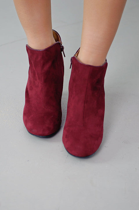 Vermont Wedge Bootie - Burgundy (Final Sale)