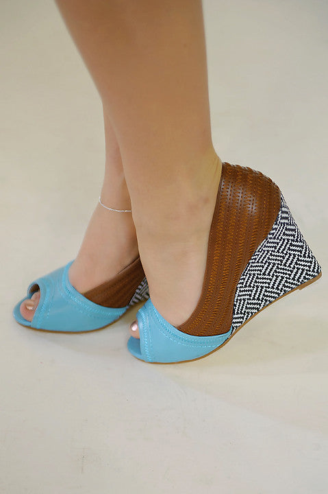 Show Me Off Wedge - Blue (Final Sale)