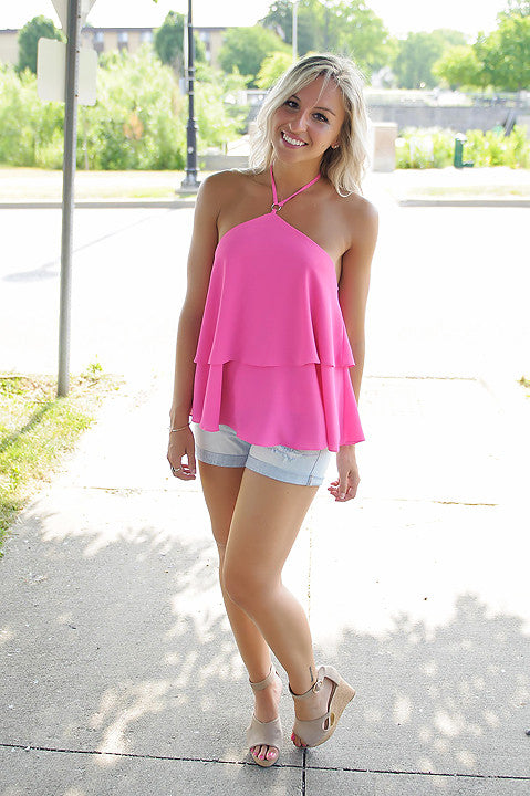 Marisol Tank Top (Hot Pink)