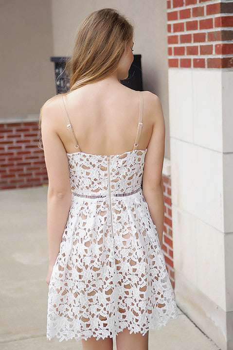 Timelessly Chic Lace Dress - White (Final Sale)