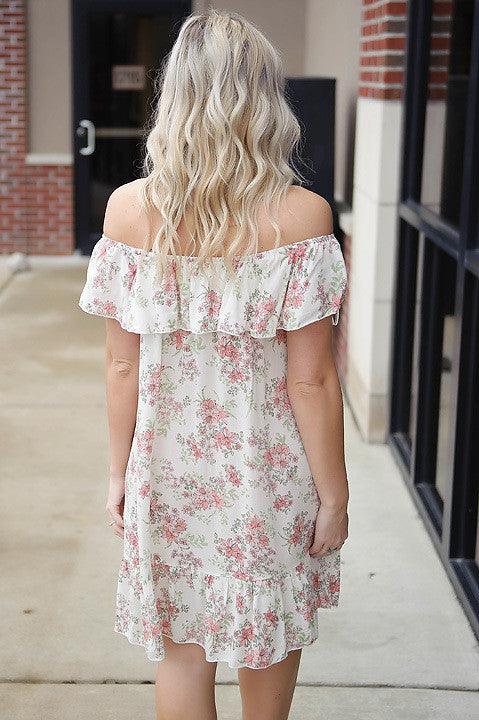 Vacation Mode Off Shoulder Dress FINAL SALE