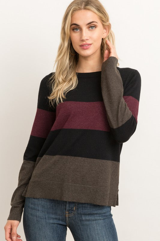 Riley Color Block Sweater