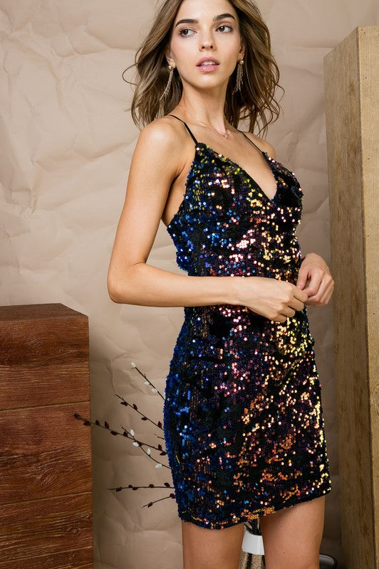 Falling For You Sequin Dress FINAL SALE