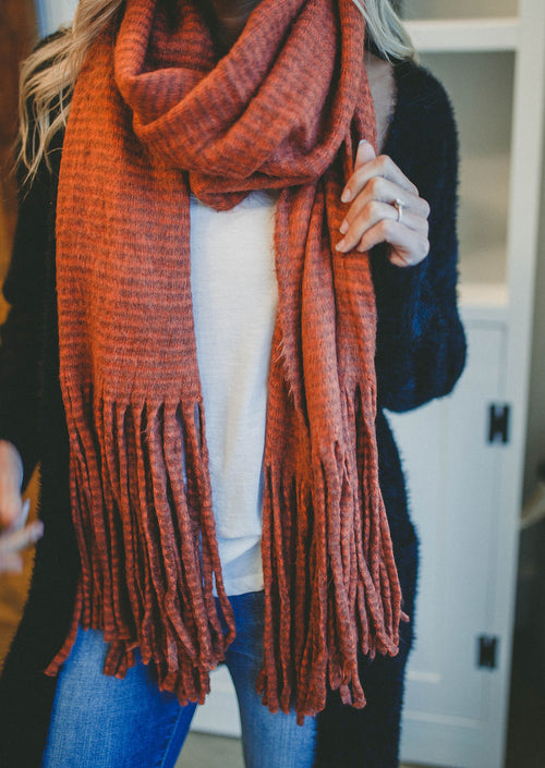 Anderson Tassel Scarf (Orange)