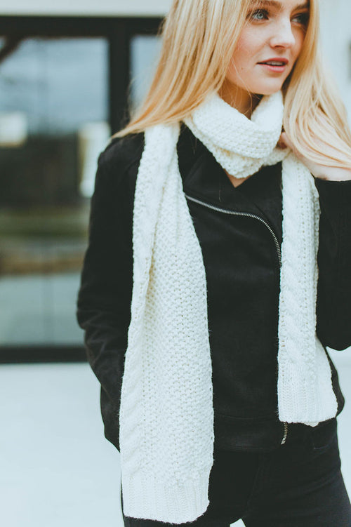 Sheridan Cable Knit Scarf