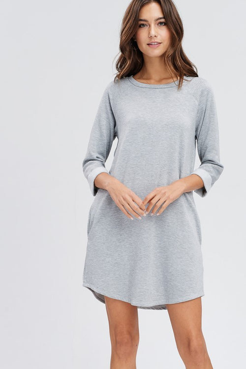 Taylor T-Shirt Dress (Heather Gray)