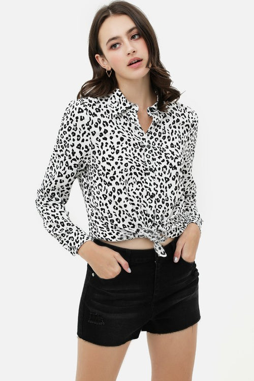 Blair Leopard Print Top