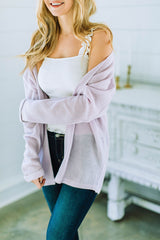 Sweet Intentions Cardigan (Lavender)