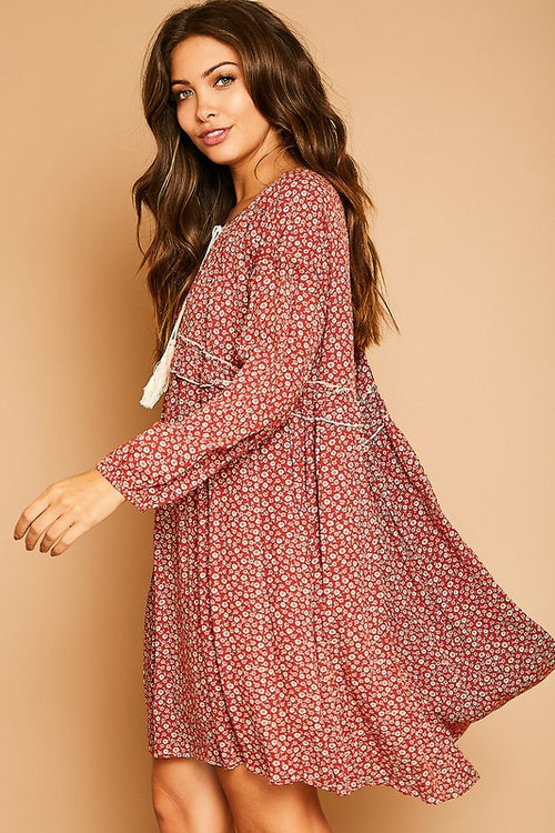 Charlie Floral Babydoll Dress